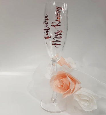 'Future Mrs' Personalised Champagne Glass