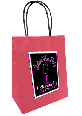 Champagne Design Personalised Bag