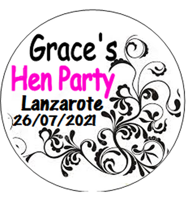 Personalised Classy Hen Party Badge