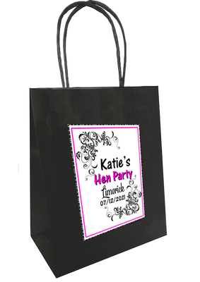 Hen Night Classy  Hen Party Personalised Gift Bag
