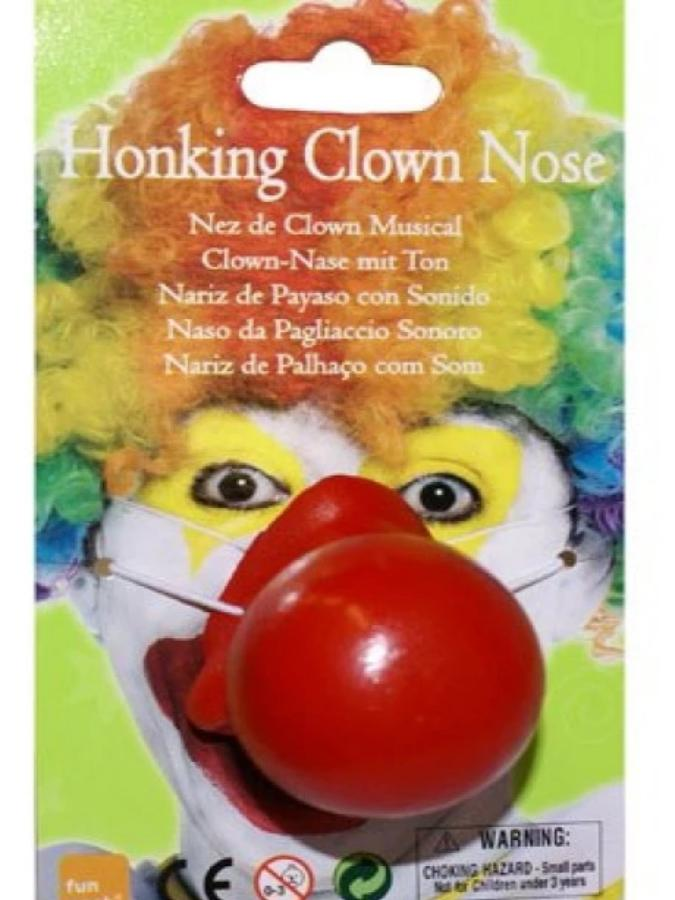 clown nose honking