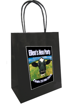 Cow Design Personalised Bag