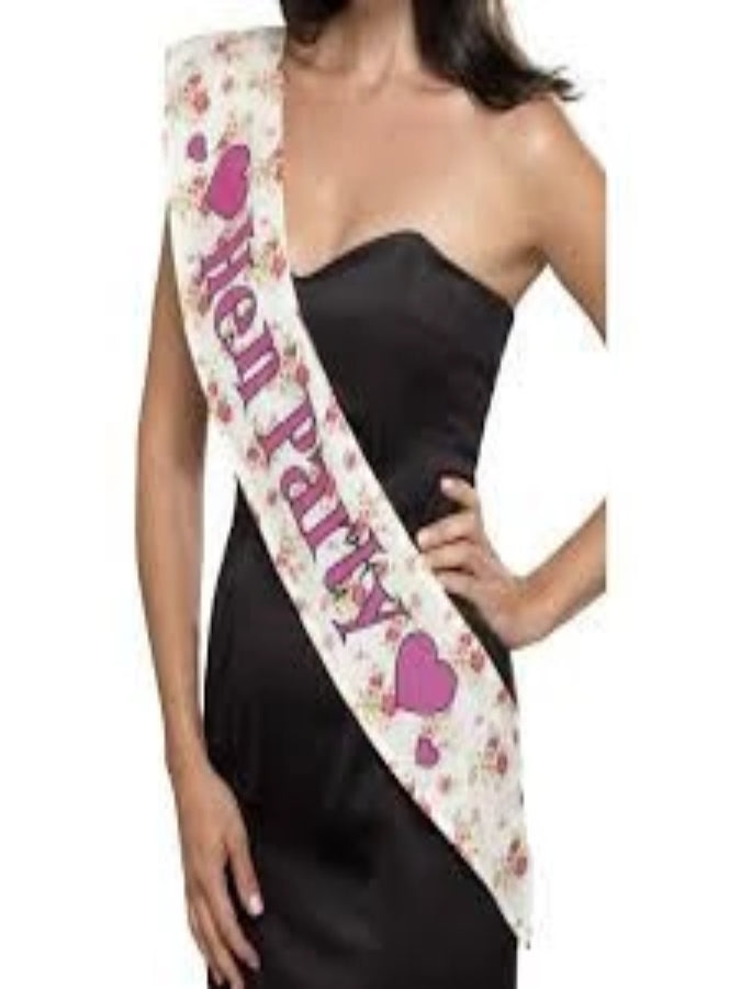 Deluxe Vintage Hen Party Sash