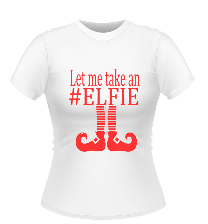 dc1327ef2 Elfie Novelty Xmas T-Shirt, Ladies | Athlone Jokeshop and Costume Hire