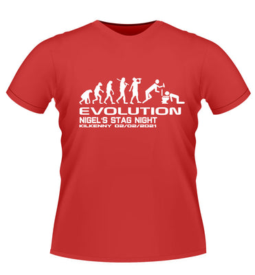 Personalised Evolution Stag Night T-shirt