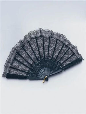 Fan Black Lace