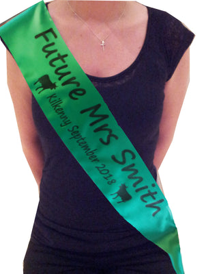 Personalised Farmer Theme Hen Party Sash