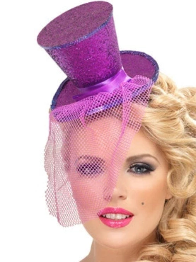 Fever Mini Top Hat Purple
