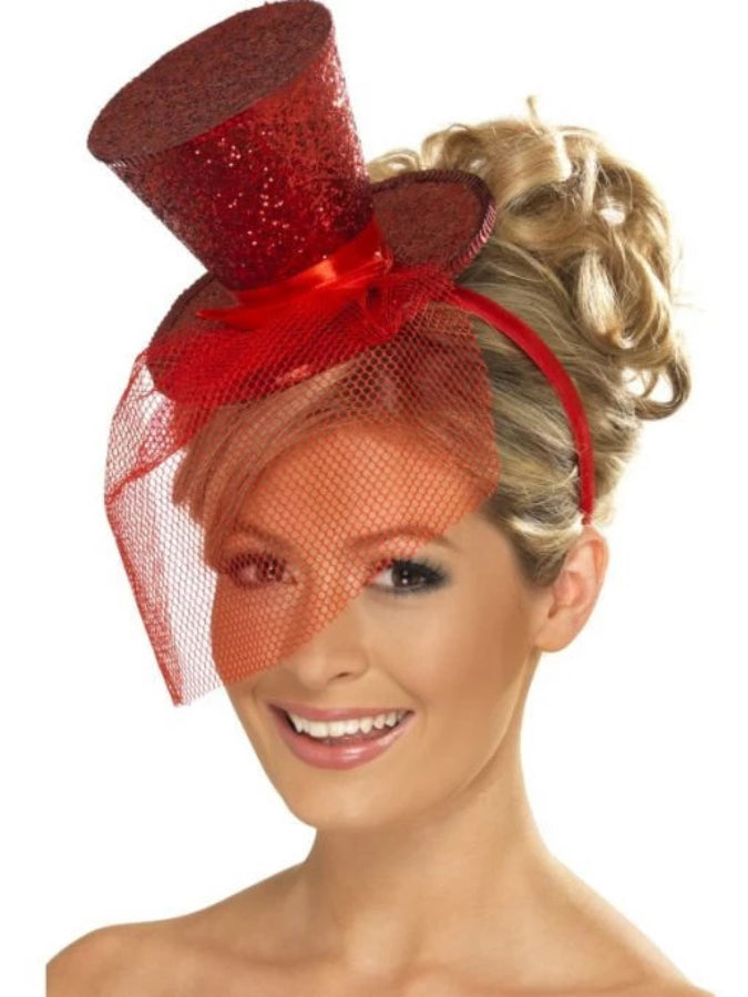 Fever Mini Top Hat Red