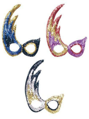 Flame Sequin masquerade mask