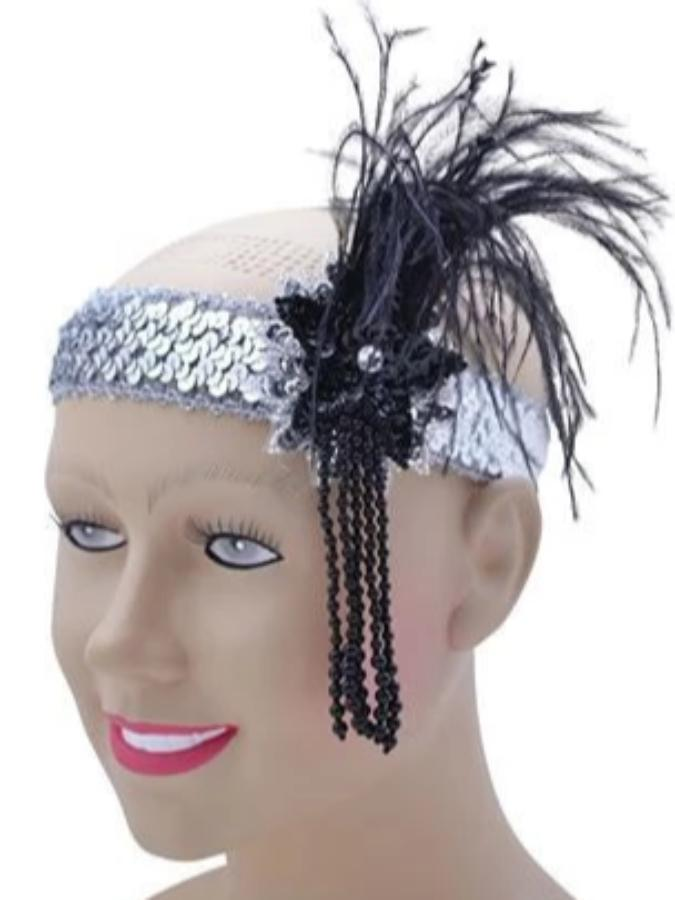 Flapper headband sequin deluxe