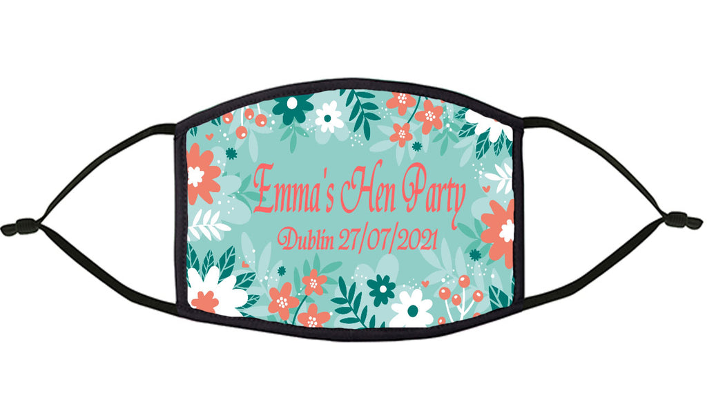 Pretty Floral Personalised Re-Usable Face Mask
