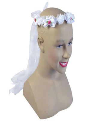 HEN NIGHT Flower White Headband