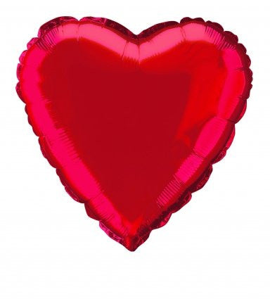 "FOIL 18"" RED-RED HEART BALLOONS"