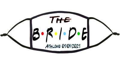 'The Bride' Personalised Hen Party Re-Usable Face Mask