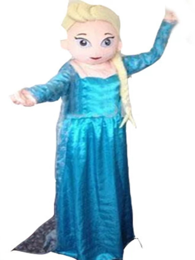 Frozen Princess elsa look a like mascot costume hire