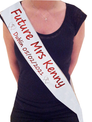 Design your own Personalised Sash