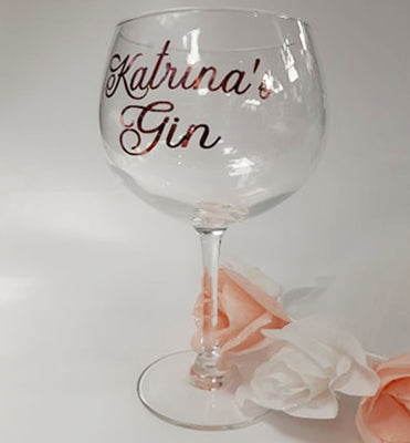 Personalised Juniper Gin Cocktail Glass