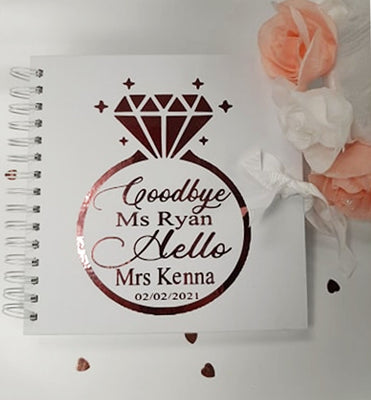 'Goodbye Ms.. Hello Mrs' Personalised Hen Party Memory Book