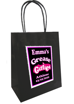 Personalised Grease Theme gift bag