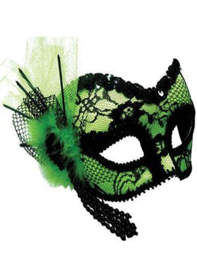 Green And Black Eye masquerade mask em380