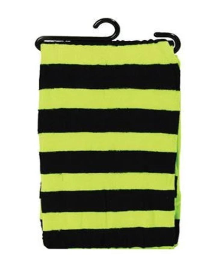 Green/Black Tights Neon Striped