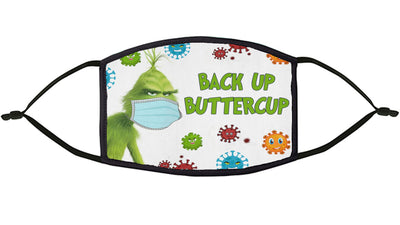 Grinch-Back Up Buttercup Re-Usable Mask