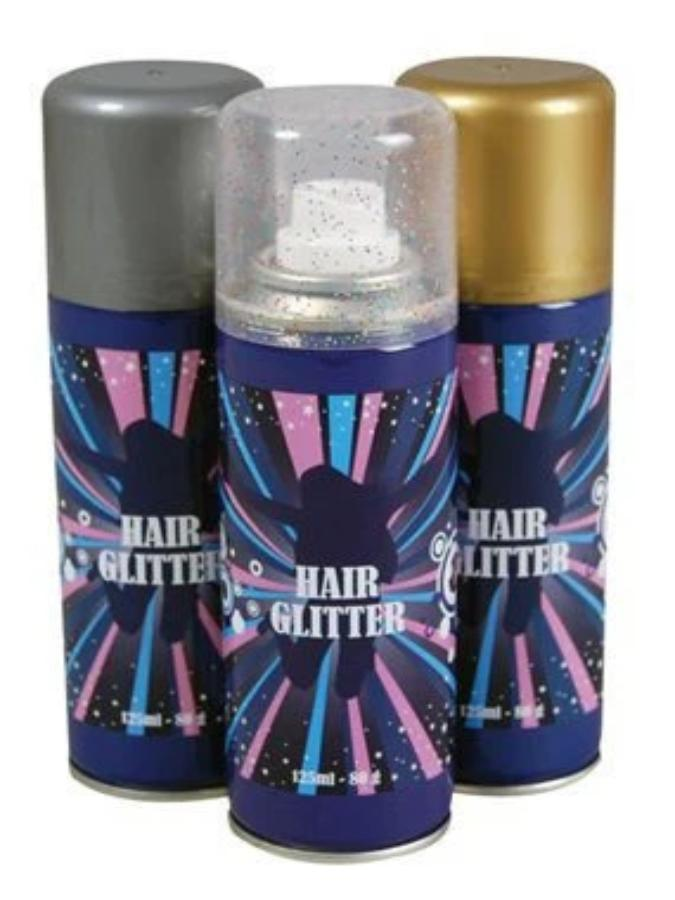 Hair Glitter Spray Silver