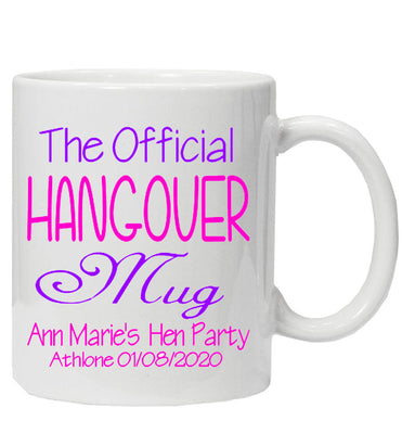 Personalised Hen Party HANGOVER Mug