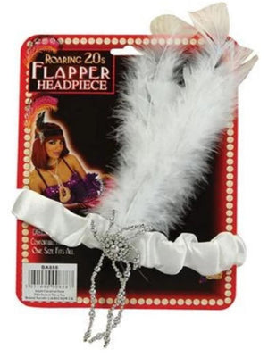 Headband White Flapper