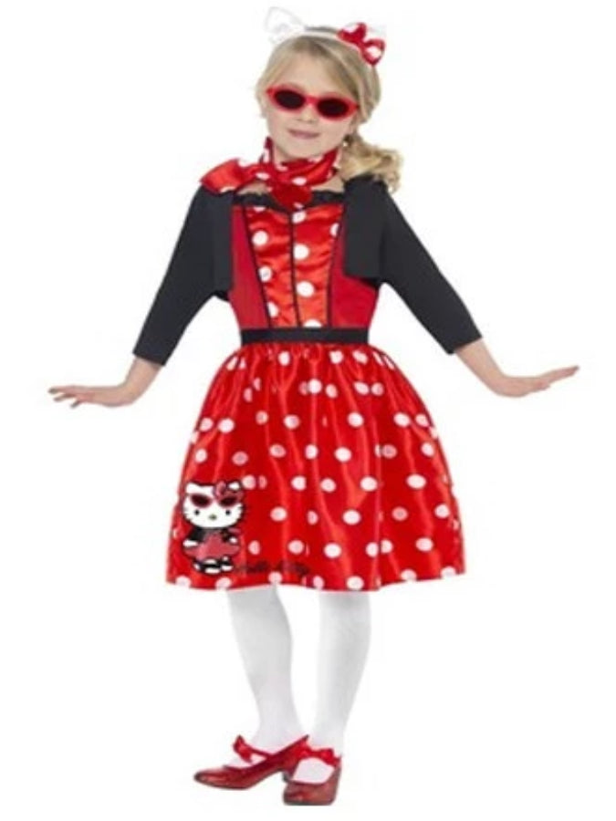 Hello Kitty, Retro 50's cherry Children's costume