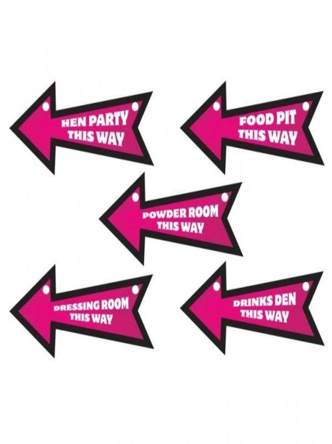 HEN NIGHT: DIRECTION SIGNS (PACK 6)