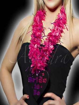 Hen Night Hot Pink Bride to Be Lei