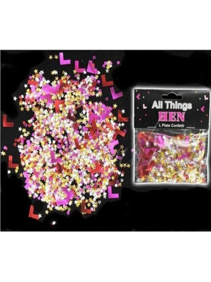 HEN NIGHT L Plate Confetti