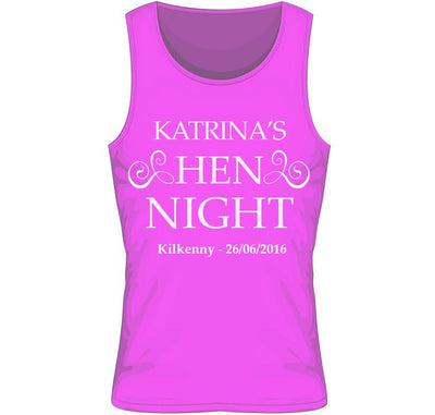 'Hen Night' Personalised Hen Party Vest