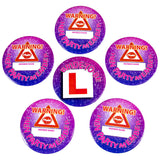 HEN PARTY Badges Warning