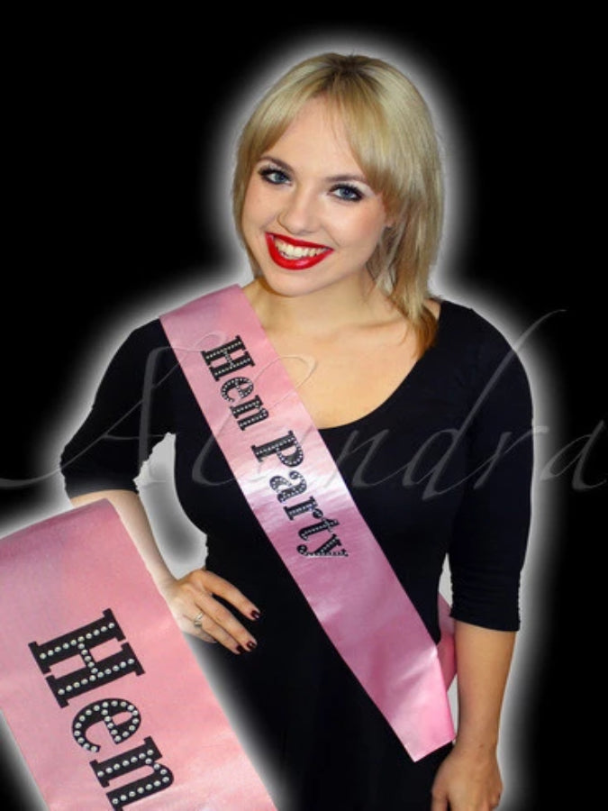 Hen Party Diamante Sash