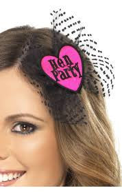 Hen Party Hair Bow, with Netting