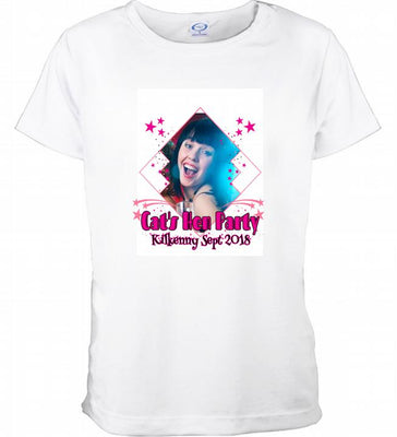 Personalised Hen Party TShirt with Picture