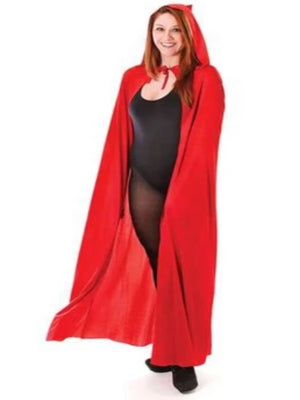 Hooded Cape Red