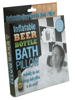 Inflatable Beer Bottle Bath Pillow