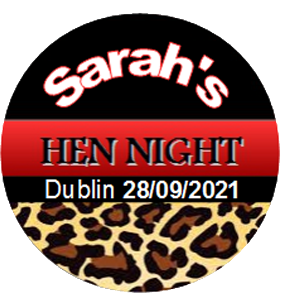 Personalised Hen Party Badge Leopard Print
