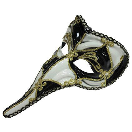Loki Black And white masquerade mask
