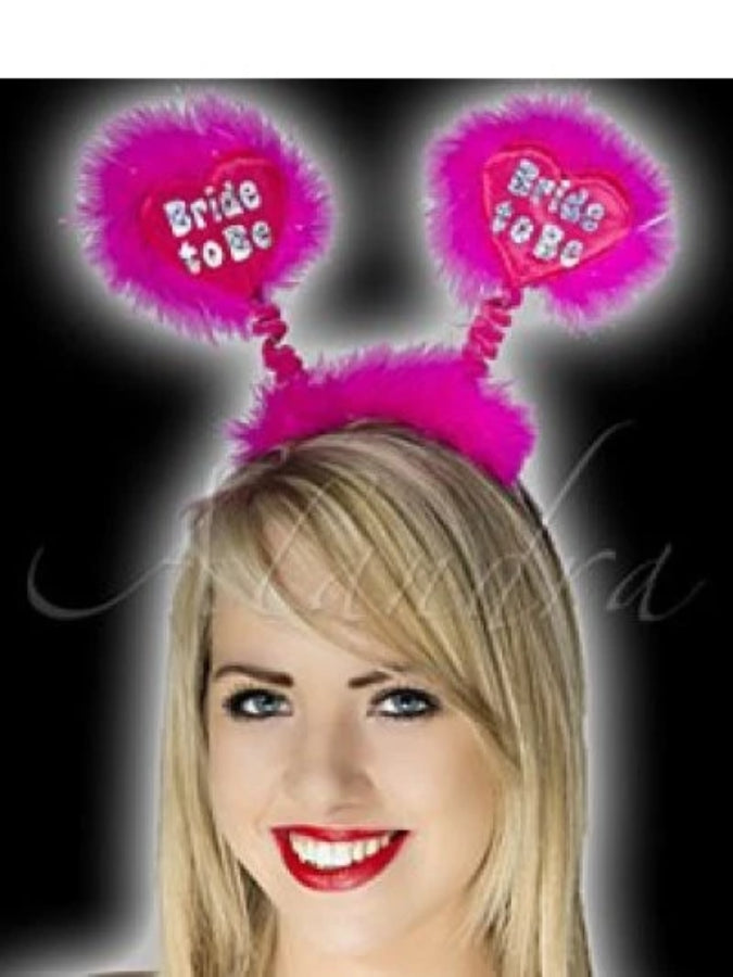 Hen Party Luxury Foil Hot Pink Bride to Be Bopper on a Pink Heart