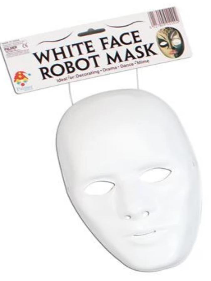 Male Robot Face Mask
