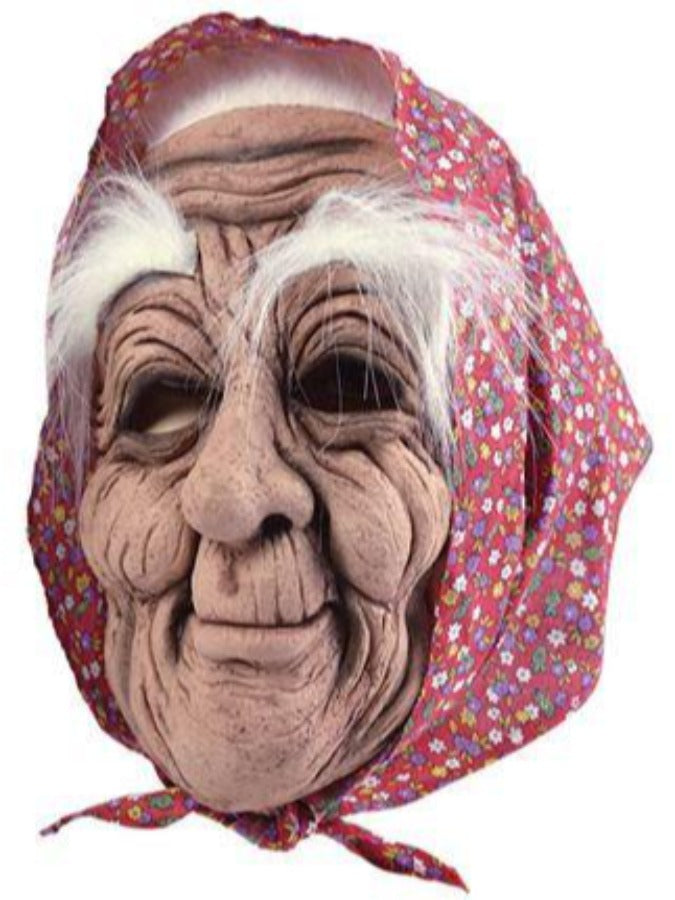 Old Woman With scarf Mask