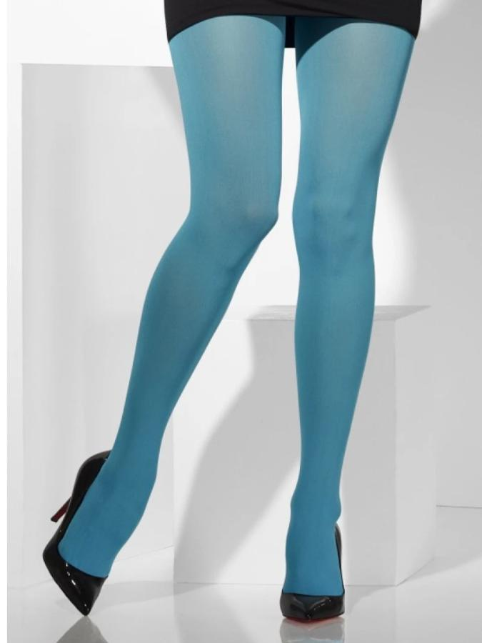 OPAQUE TIGHTS, LIGHT BLUE