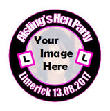 Personalised L Plate & Pic Hen Party Badge