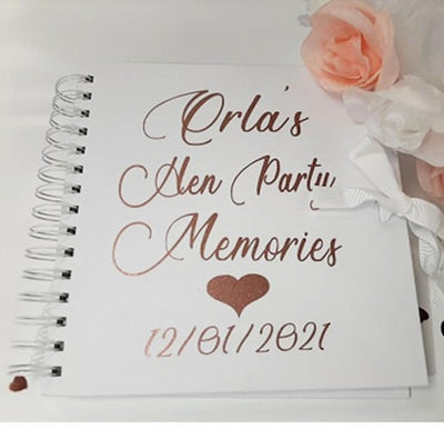 Personalised Hen Party Memory Book
