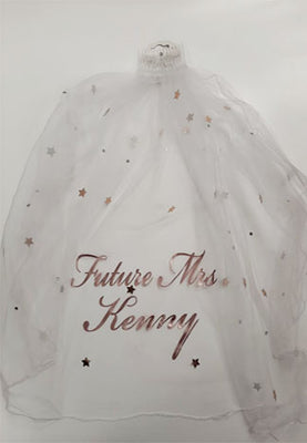 Personalised Bride to Be Rose Gold Veil
